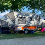 Opus il carrello tenda a pali gonfiabili in campeggio